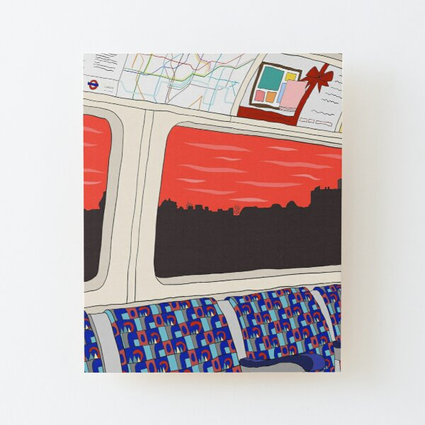 View from London Jubilee Line Wood Mounted Print