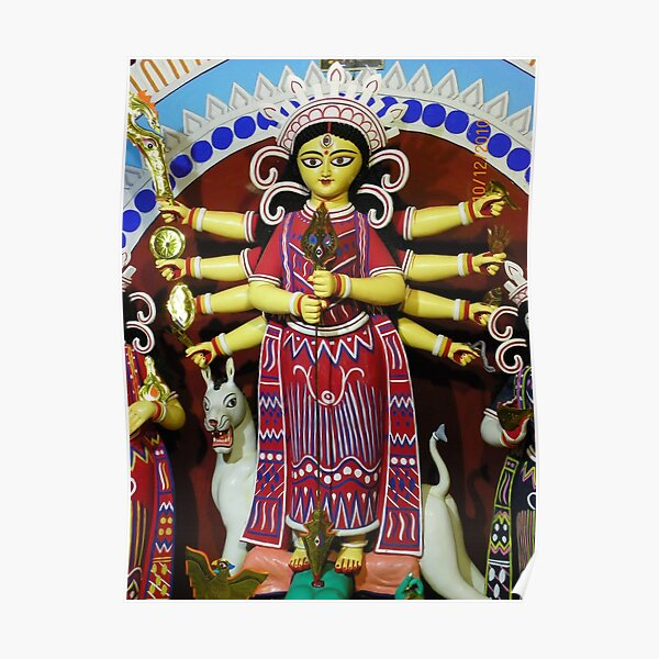 Durga Puja, Rajdanga, Kasba, Kolkata, India Poster