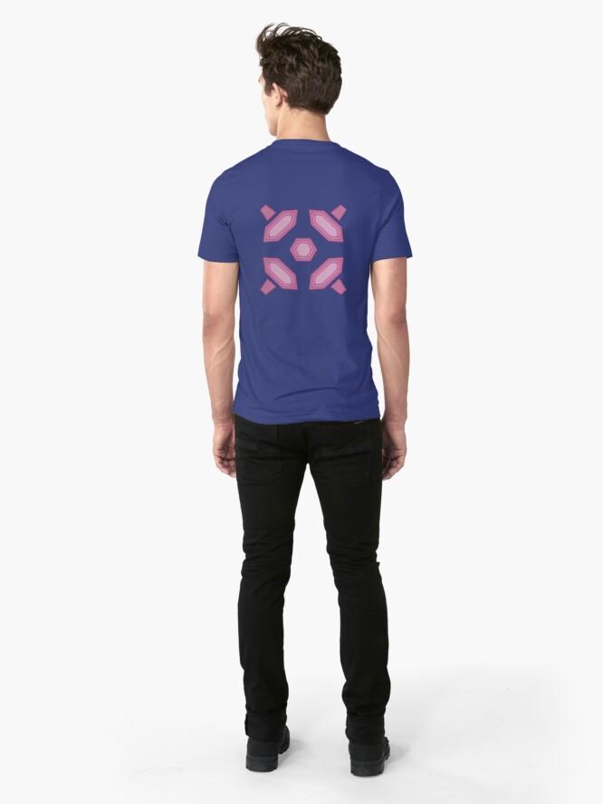 Alternate view of Zero Suit Back Design on Blue Slim Fit T-Shirt