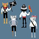 Pirate Cats by Nic Squirrell
