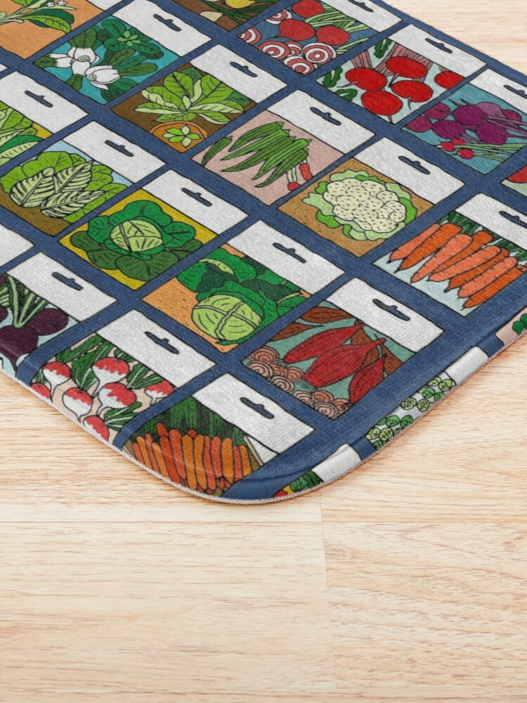 Alternate view of Vegetable seeds pattern Bath Mat