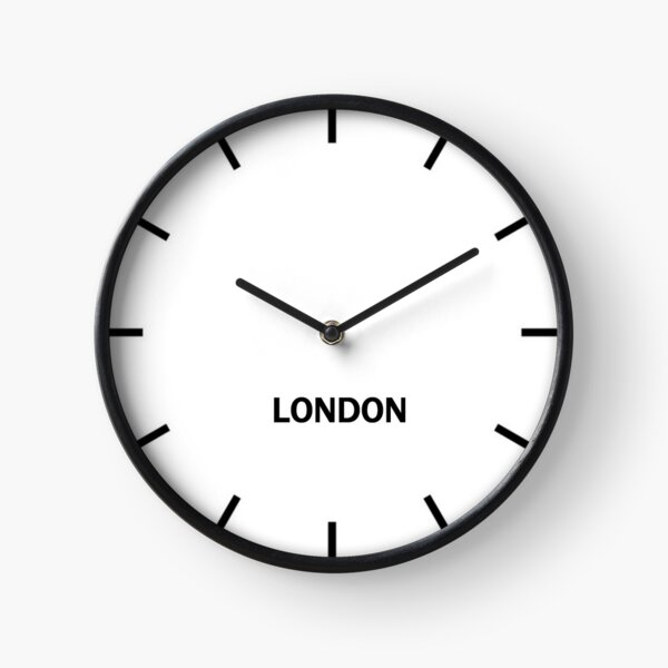 London Time Zone Wall Clock Clock