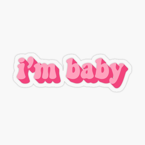 I'M BABY Transparent Sticker