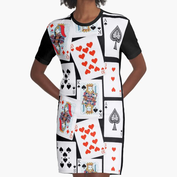Playing cards Graphic T-Shirt Dress