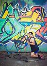 Pinup Bike Polo Cutie #3 by Jennifer Kutzleb