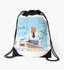 Just a Gopher - climb the corporate ladder? Drawstring Bag