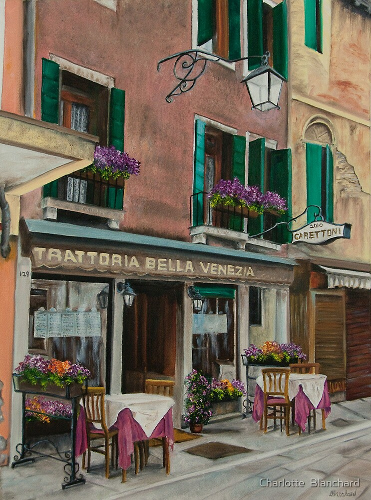 Beautiful Restaurant In Venice by Charlotte  Blanchard