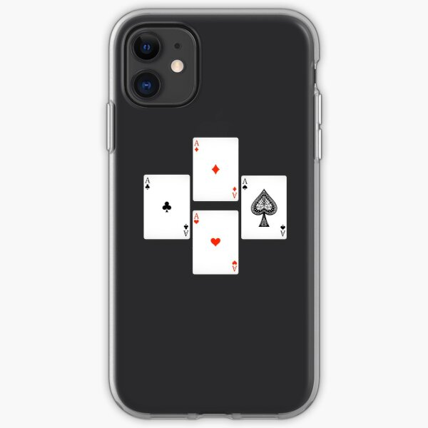4 aces playing cards iPhone Soft Case
