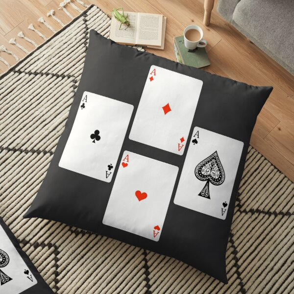 4 aces playing cards Floor Pillow