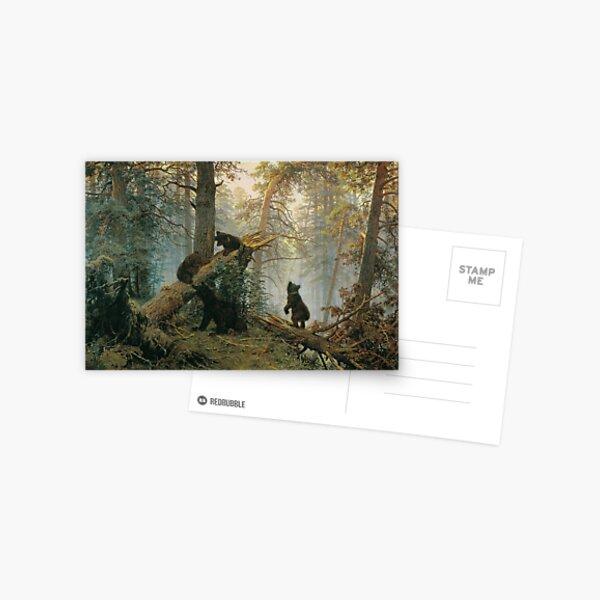 И. И. #Шишкин, К. А. Савицкий. Утро в сосновом лесу. 1889. Холст, масло. 139 × 213 см. Третьяковская галерея, Москва. #IvanShishkin #MorningInAPineForest #MorningInPineForest, Postcard
