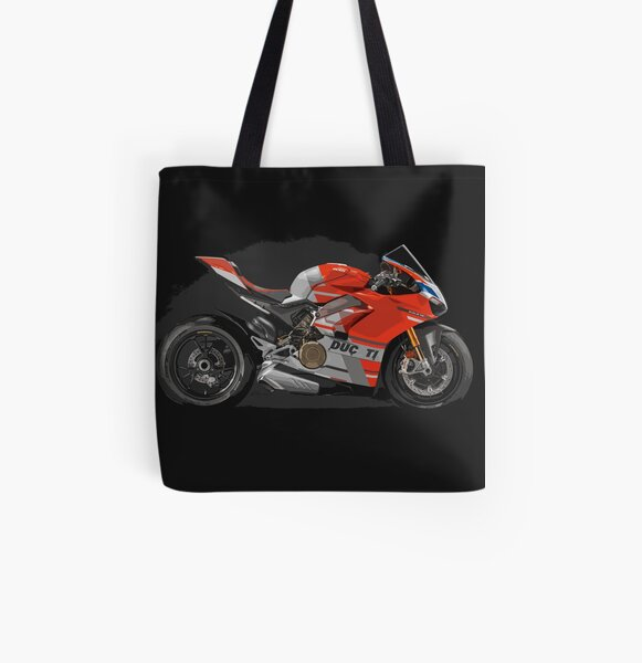 Ducati Panigale V4 S All Over Print Tote Bag