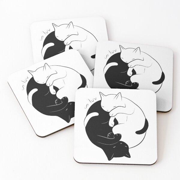 Eternal Cat Love Coasters (Set of 4)