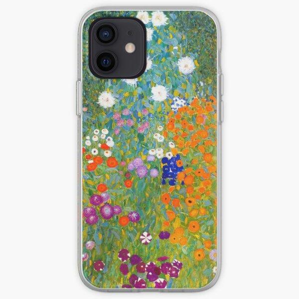 Flower Garden by Gustav Klimt Vintage Floral iPhone Soft Case