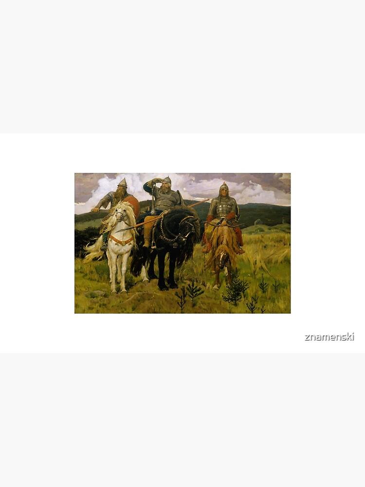 «Богатыри» — Добрыня Никитич, Илья Муромец и Алёша Попович (Картина В. М. Васнецова, 1881—1898) by znamenski