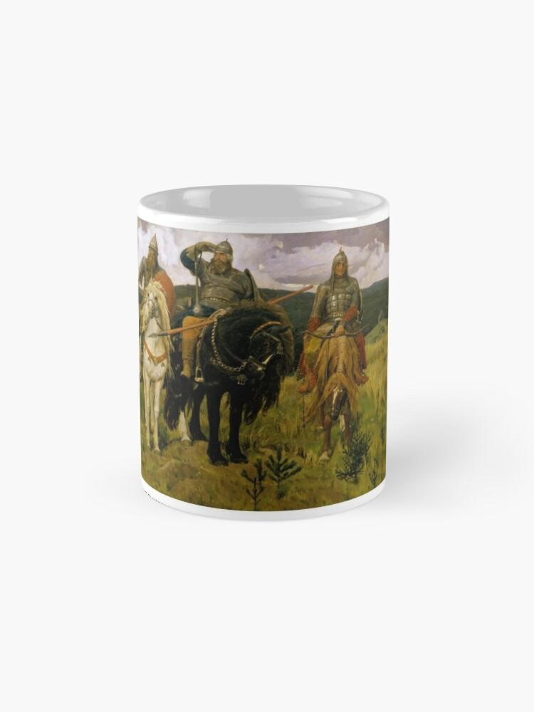 Alternate view of «Богатыри» — Добрыня Никитич, Илья Муромец и Алёша Попович (Картина В. М. Васнецова, 1881—1898) Mug