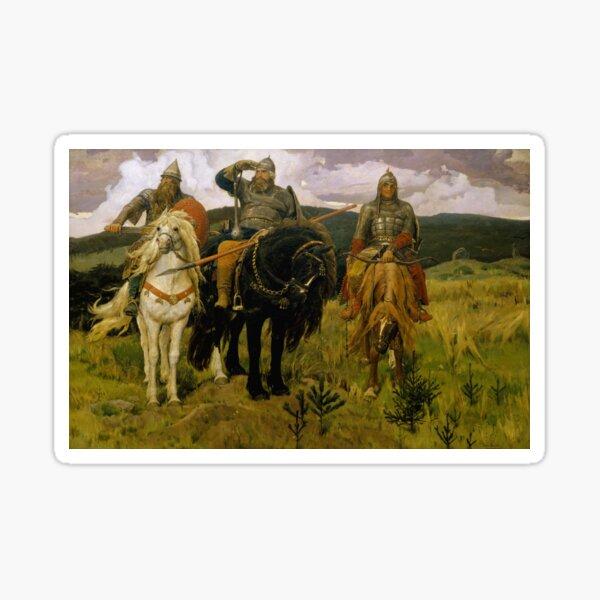 «Богатыри» — Добрыня Никитич, Илья Муромец и Алёша Попович (Картина В. М. Васнецова, 1881—1898) Sticker