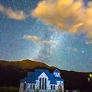 Magical Chapel On The Rock Milky Way Sky by Bo Insogna