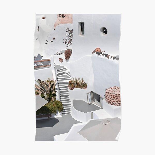 Architecture in Santorini Poster
