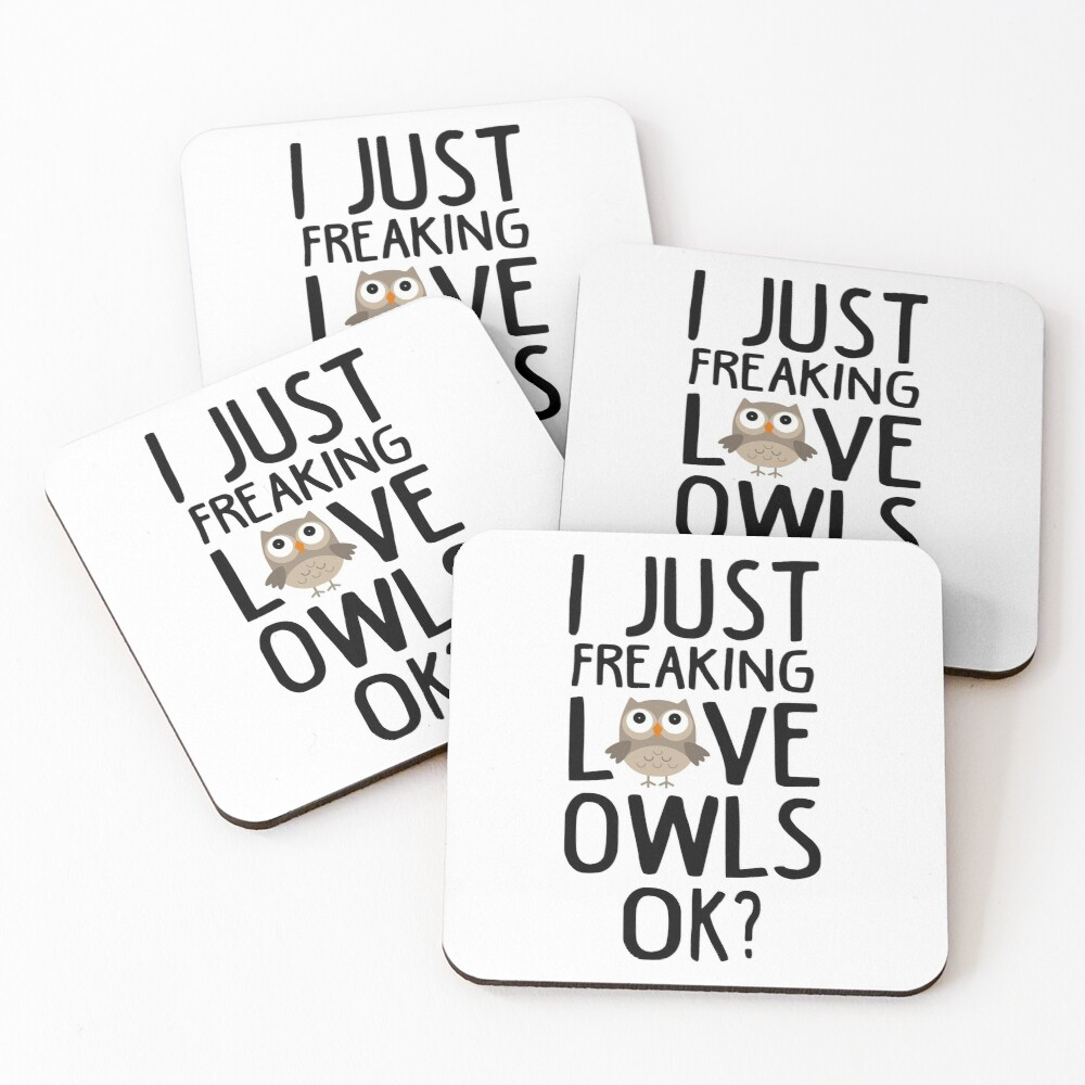 Love Owls Funny Owls Lover Gift Coasters (Set of 4)