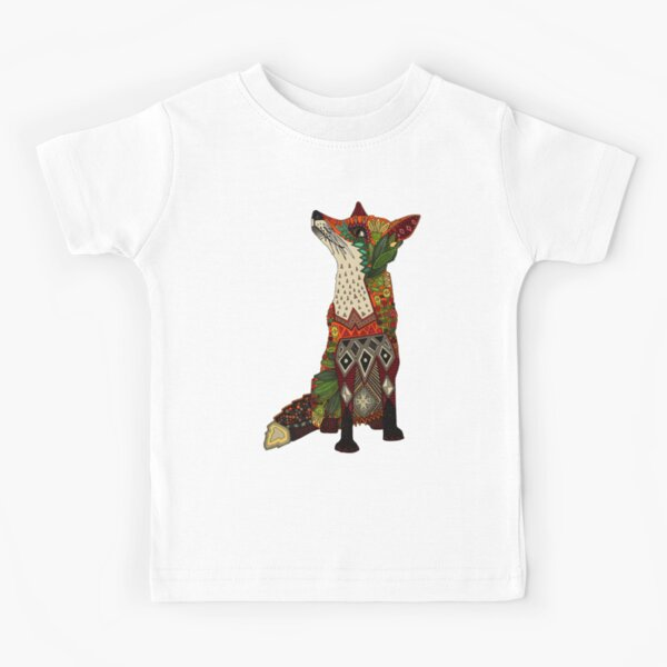 floral fox Kids T-Shirt