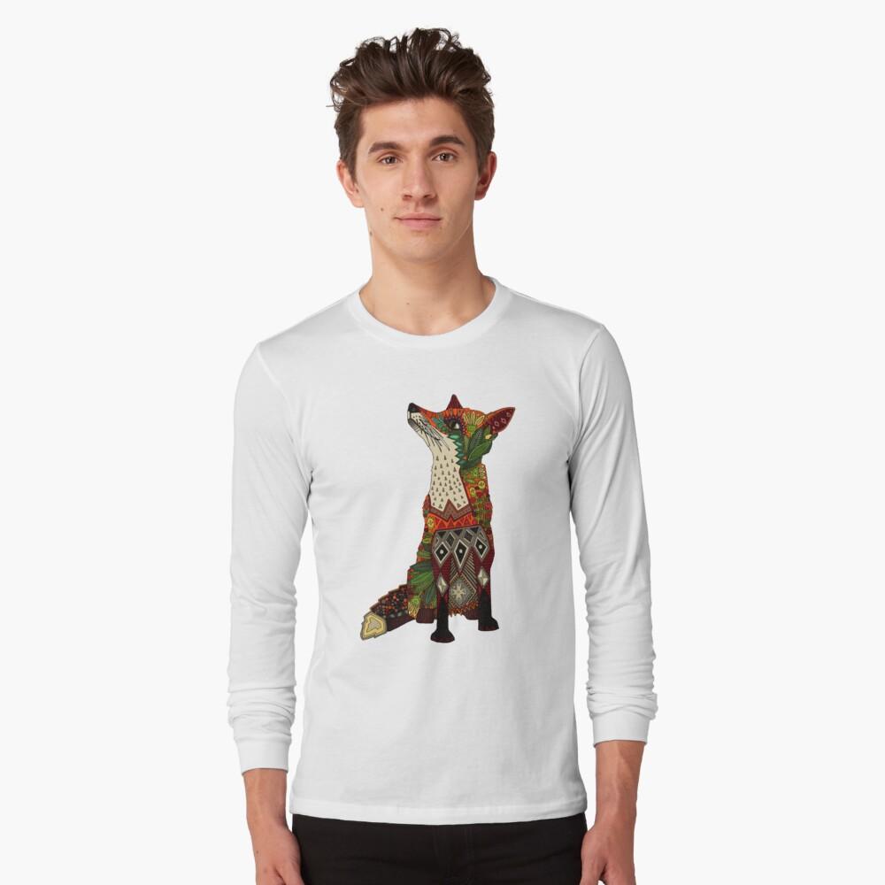 floral fox Long Sleeve T-Shirt