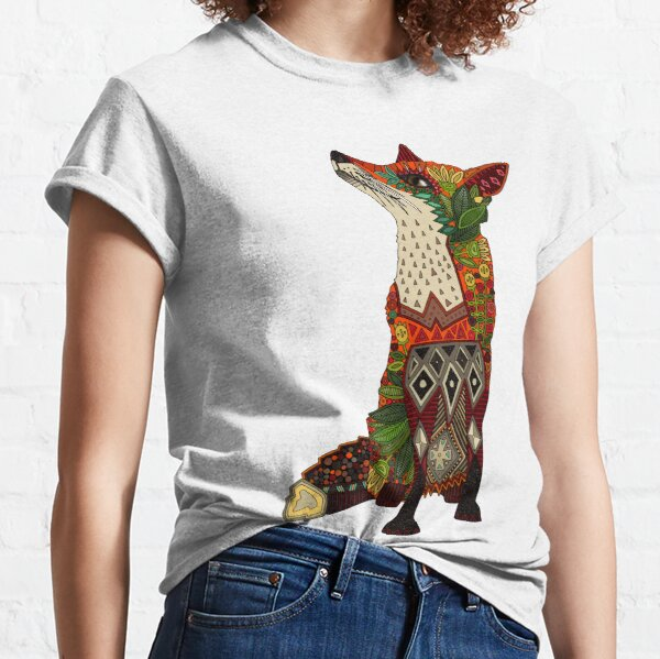 floral fox Classic T-Shirt