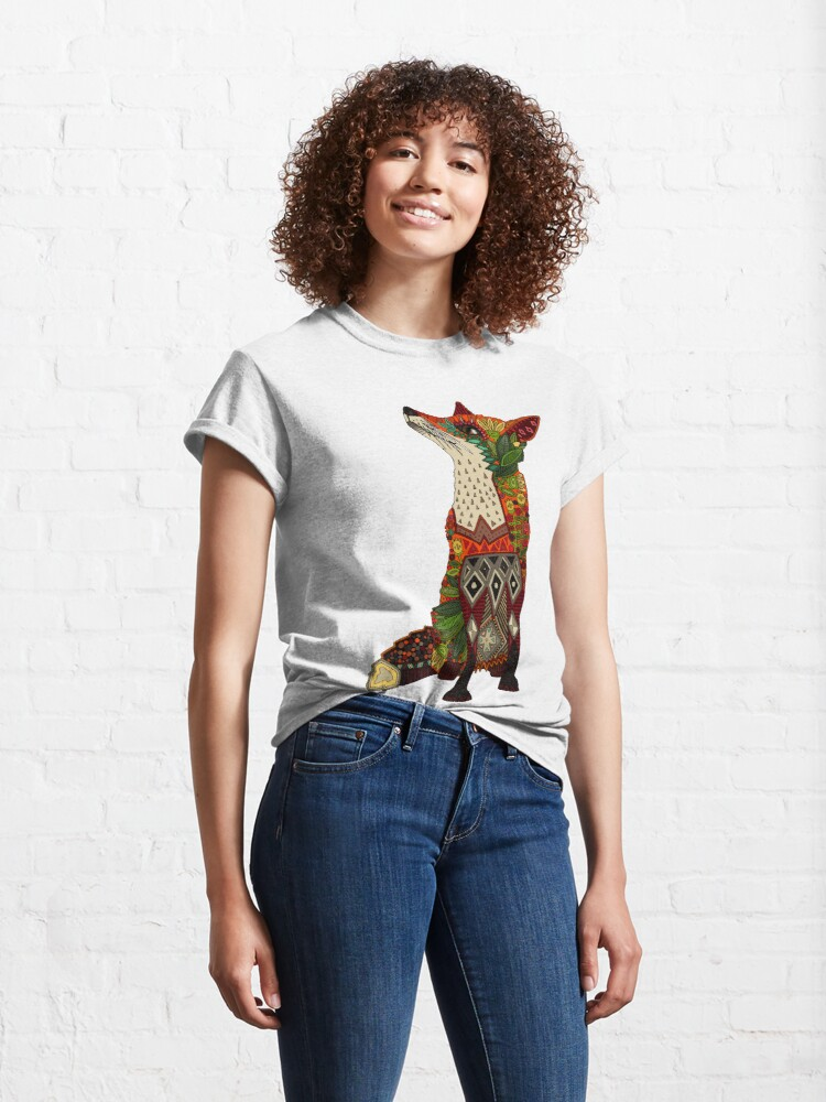 Alternate view of floral fox Classic T-Shirt