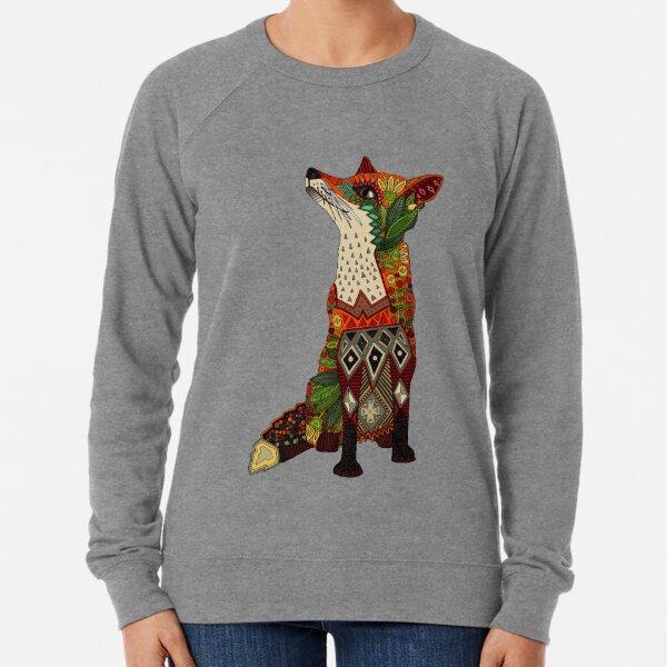 floral fox Lightweight Sweatshirt