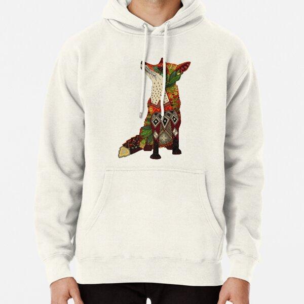 floral fox Pullover Hoodie