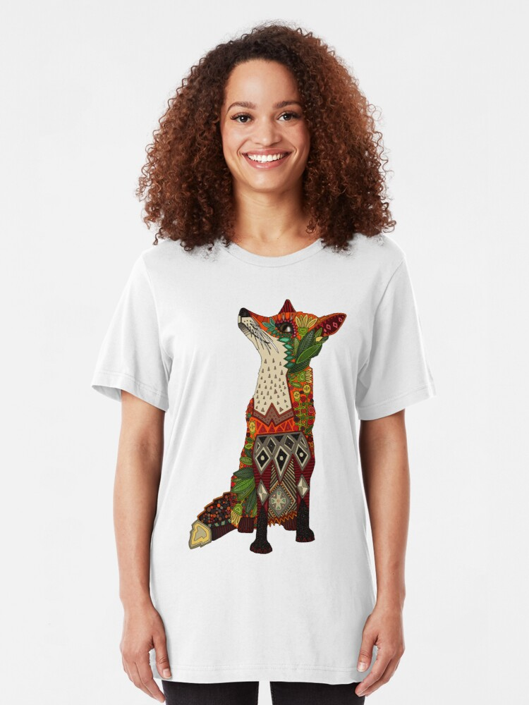 Alternate view of floral fox Slim Fit T-Shirt