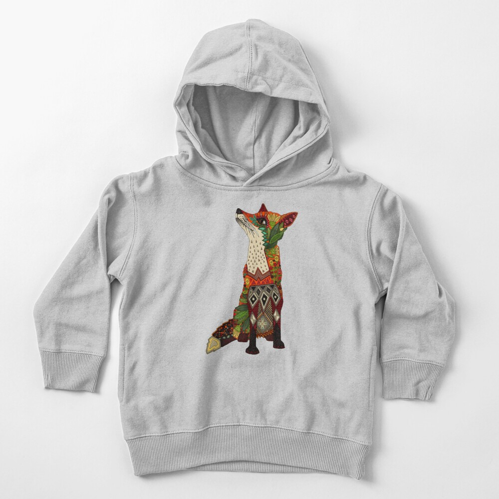 floral fox Toddler Pullover Hoodie