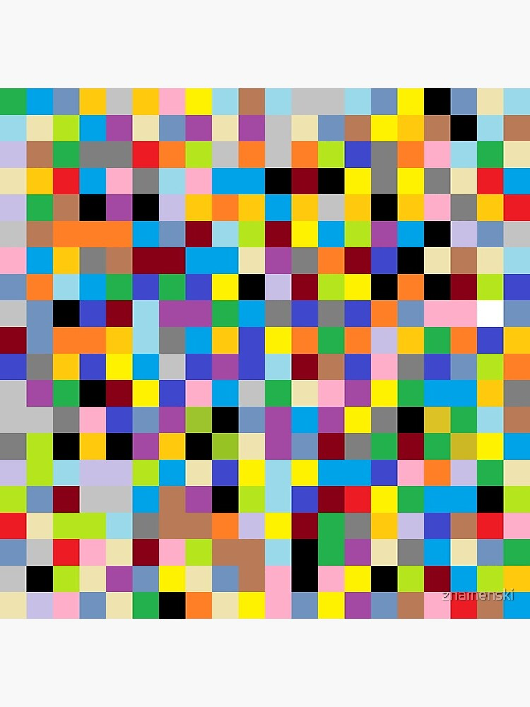 #Design, #pattern, #illustration, #art, abstract, square, pixel, mosaic, color image by znamenski