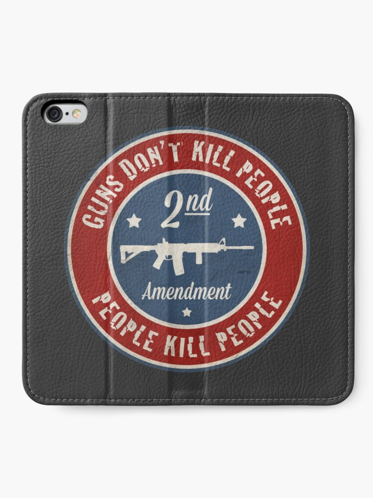 Alternate view of Second Amendment iPhone Wallet