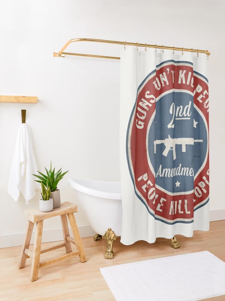 Alternate view of Second Amendment Shower Curtain