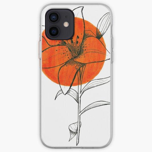 Bright Orange Tiger Lily Flower iPhone Soft Case