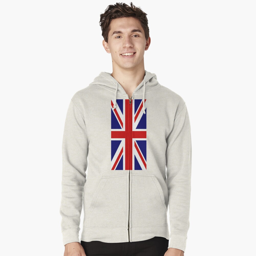 British, Union Jack, PORTRAIT, Flag, 1;2, UK, GB, United Kingdom, Pure & simple  Kapuzenjacke
