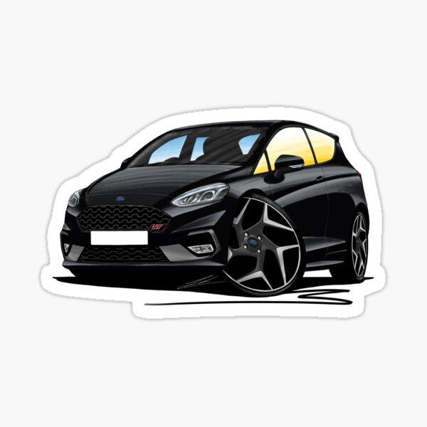 Ford Fiesta ST (Mk8) Noir - Caricature Car Art Sticker
