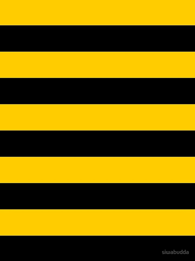 Bee pattern black and yellow stripes by siwabudda