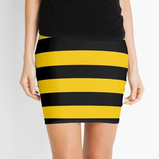 Bee pattern black and yellow stripes Mini Skirt