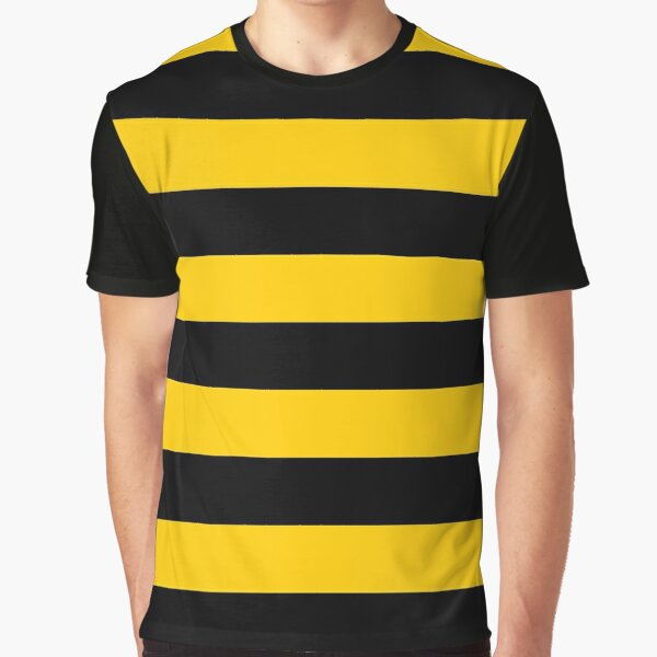 Bee pattern black and yellow stripes Graphic T-Shirt