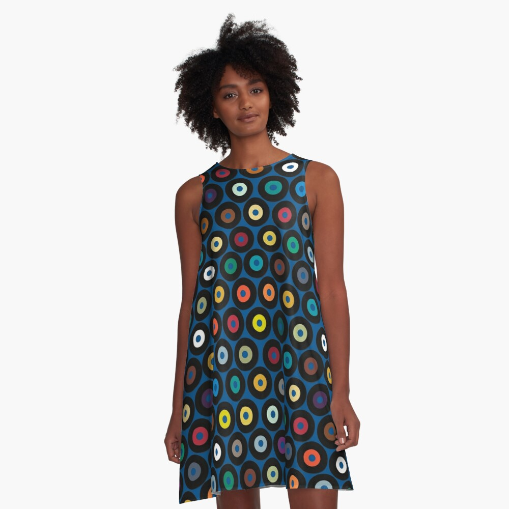 VINYL blue A-Line Dress