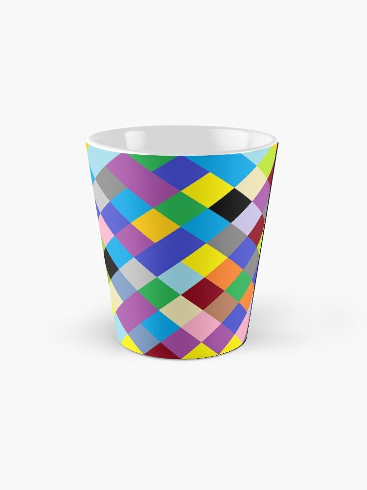 Alternate view of #Design, #pattern, #illustration, #art, abstract, square, pixel, color image Mug