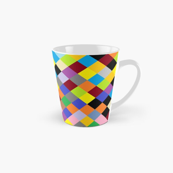 #Design, #pattern, #illustration, #art, abstract, square, pixel, color image Tall Mug