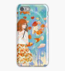 Fish in the rain 魚と雨 iPhone Case/Skin