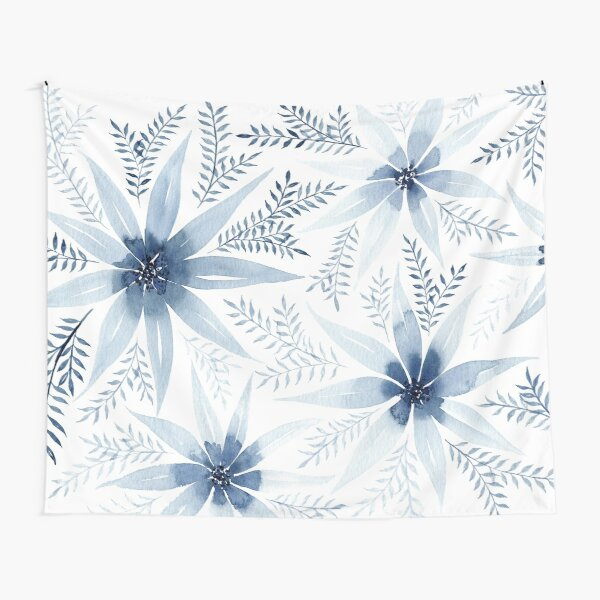 Winter Flowers | Watercolour Painting Tapestry