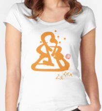 Za Zen - Orange Awakening Women's Fitted Scoop T-Shirt