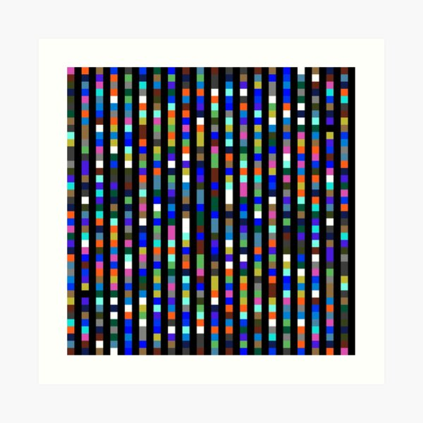 #Design, #pattern, #illustration, #art, abstract, square, pixel, color image Art Print