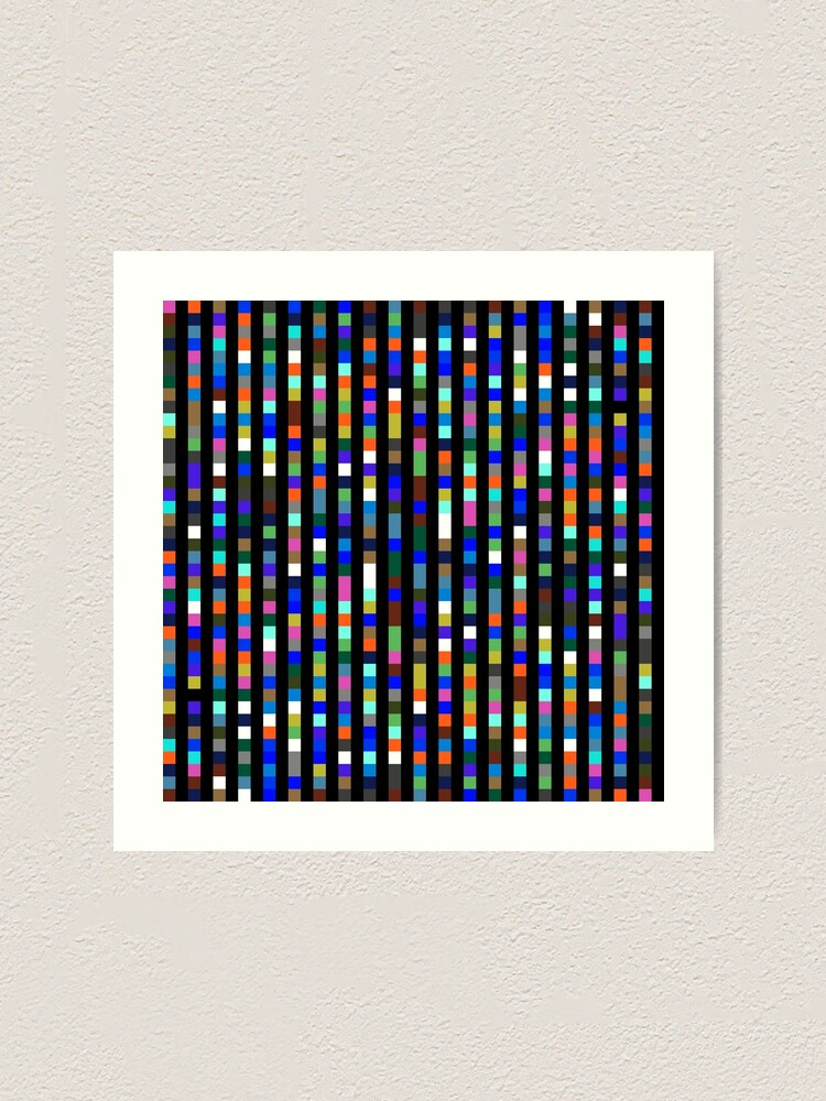 Alternate view of #Design, #pattern, #illustration, #art, abstract, square, pixel, color image Art Print