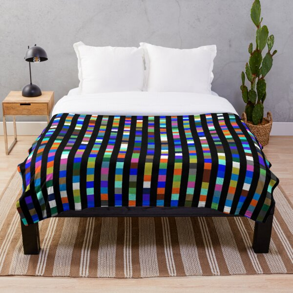 #Design, #pattern, #illustration, #art, abstract, square, pixel, color image Throw Blanket