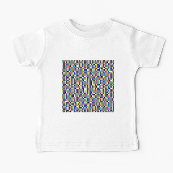 #Design, #pattern, #illustration, #art, abstract, square, pixel, color image Baby T-Shirt